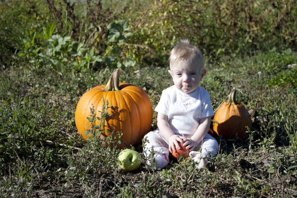 Our lil punkin.  She's kind of a doll.